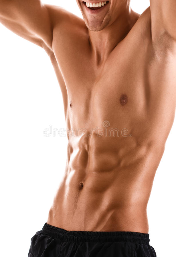 Half naked body of muscular man royalty free stock photography