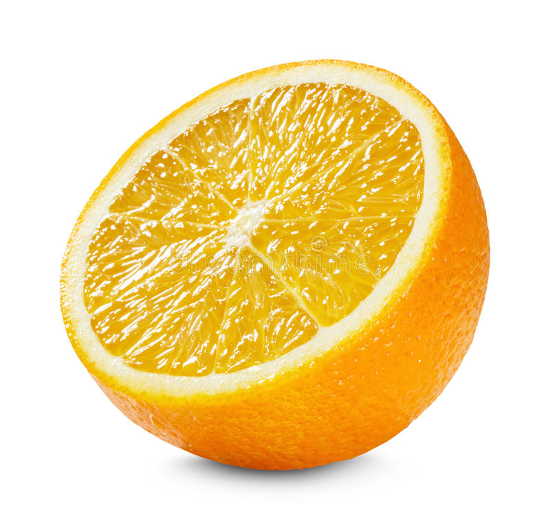 Free Half Of Orange Isolated On The White Background Royalty Free Stock Photos - 49190428