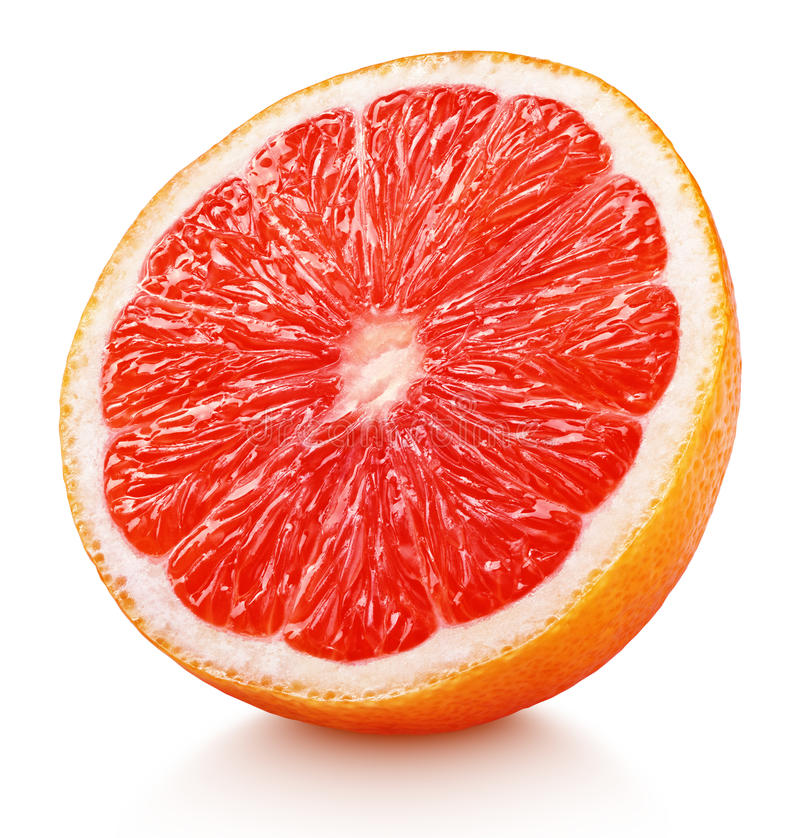 Free Half Of Pink Grapefruit Citrus Fruit Isolated On White Stock Photography - 90151322