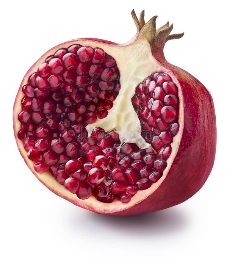 Free Half Of Pomegranate On White Background Royalty Free Stock Image - 41209876