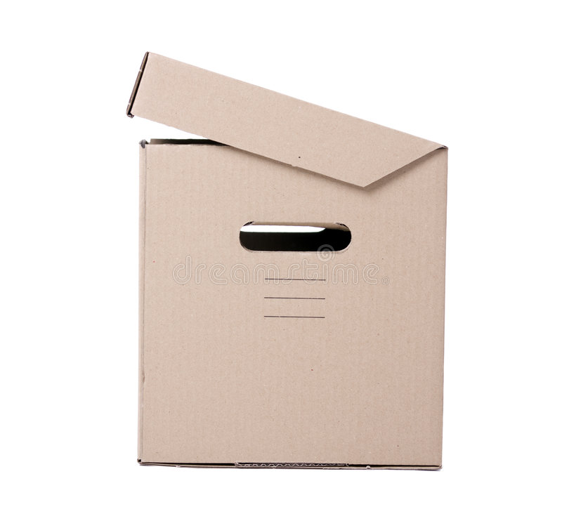 Half-open Cardboard Box Stock Image
