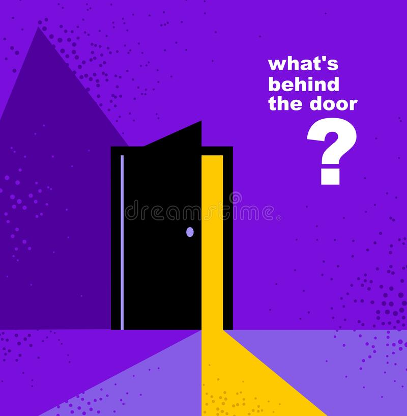 Free Half Open Secret Door New Opportunities Concept Vector Illustration, Fear Of The Unknown, Step Inside The Future, What Is Behind, Royalty Free Stock Photography - 177603647