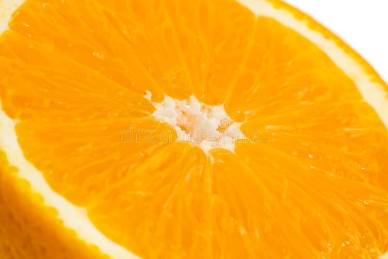Half orange close-up stock image