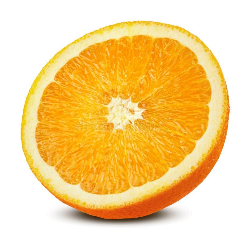 Half orange isolated stock photography