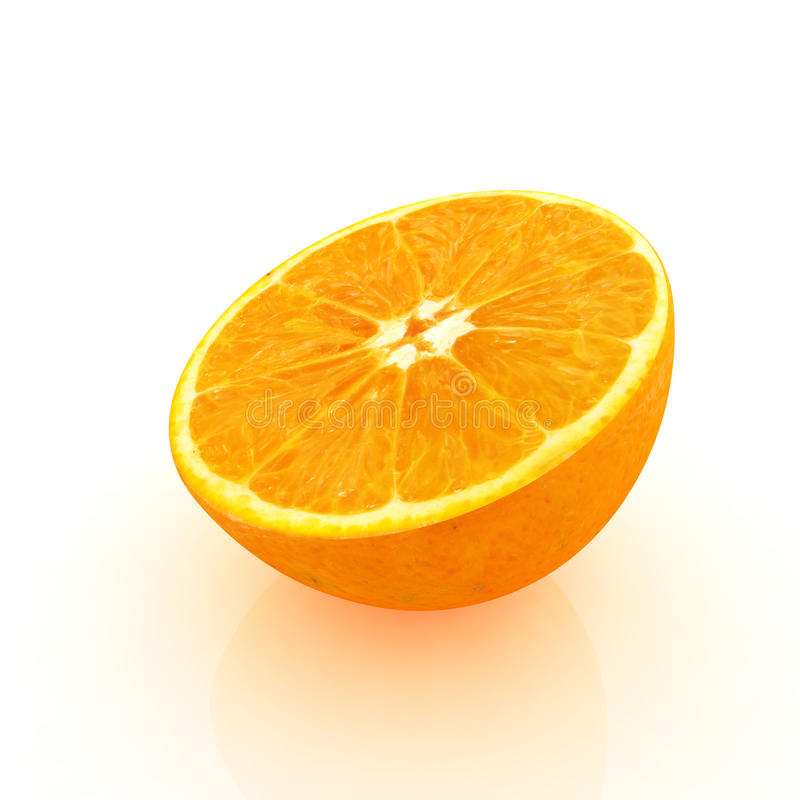 Half oranges. Best 3D render vector illustration