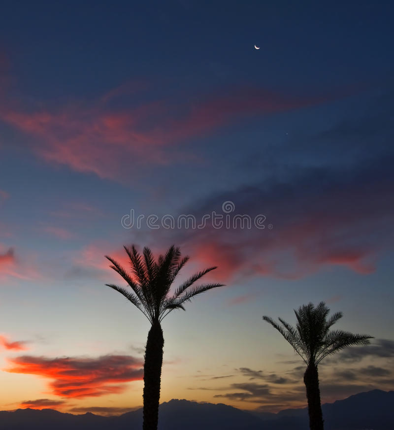A half our before sunrise royalty free stock photography