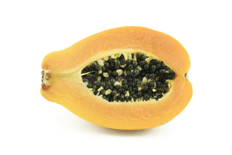 Half Of Papaya Royalty Free Stock Photos