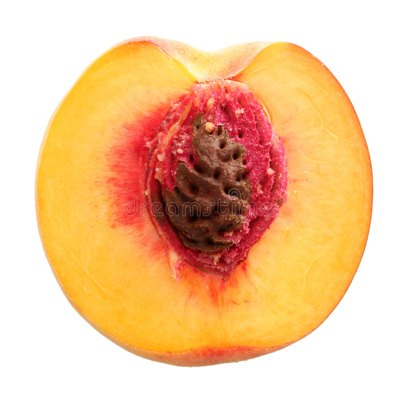 Half peach royalty free stock photography