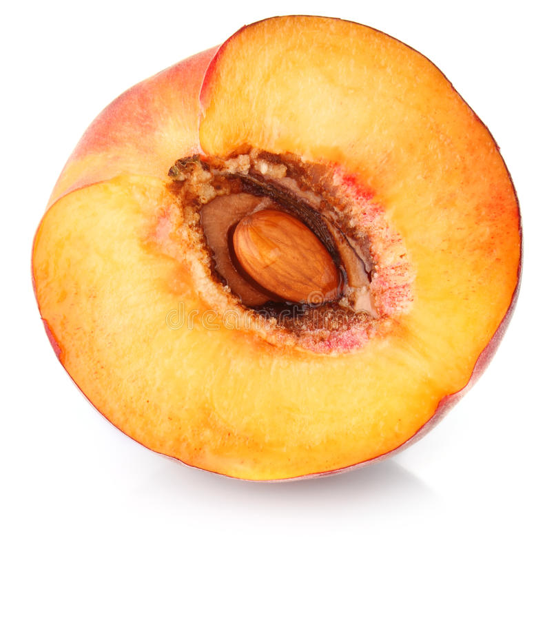 Download Half peach stock photo. Image of natural, fruit, organic - 25993030