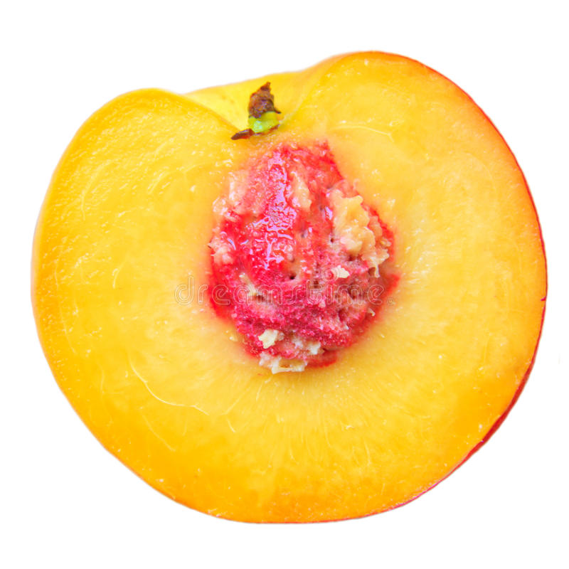 Download Half peach stock image. Image of isolated, eating, fruit - 26002113
