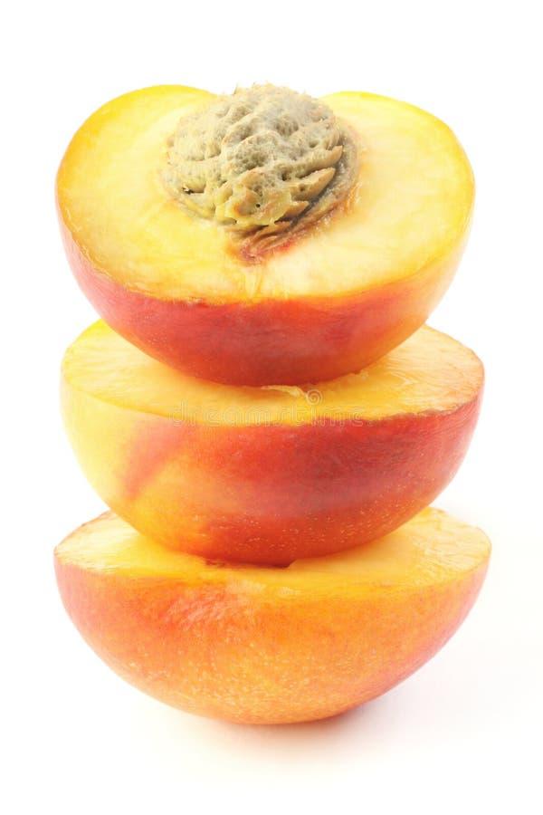 Half of peaches. stock images