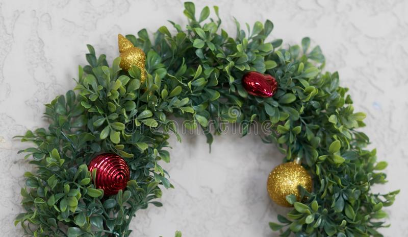Half piece of wreath on background. For cerebration and party royalty free stock image