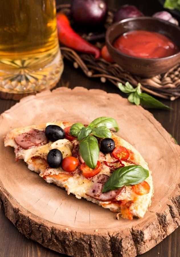 Half pizza stock image