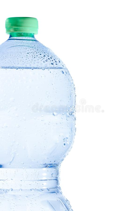 Free Half Plastic Bottle With Water And Drops, Concept Of Nutrition And Diet Stock Images - 39539444