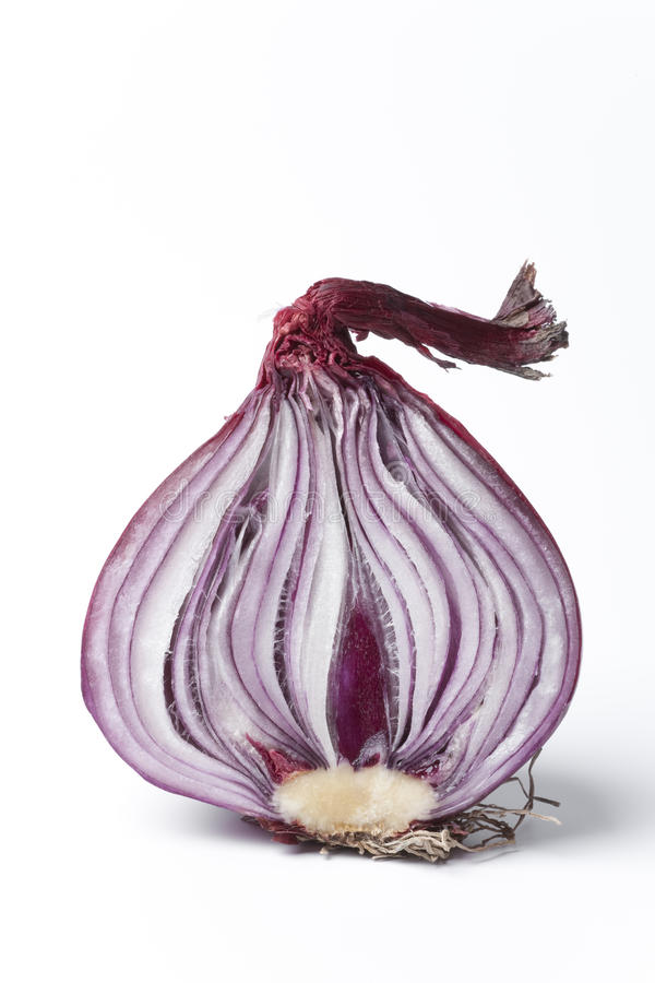 Half Red Onion On White Background Royalty Free Stock Photography