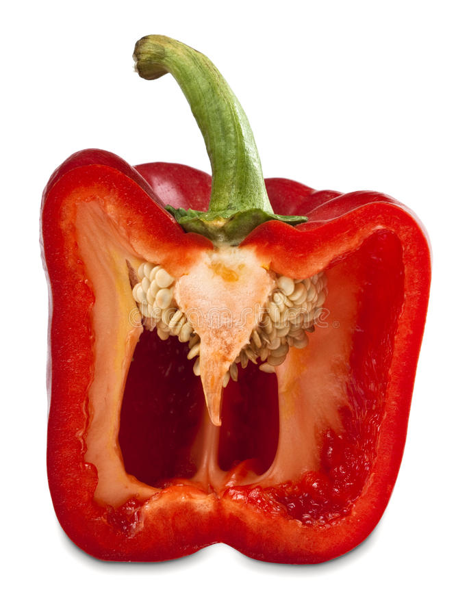 Free Half Red Pepper Vegetable Royalty Free Stock Photo - 15442165