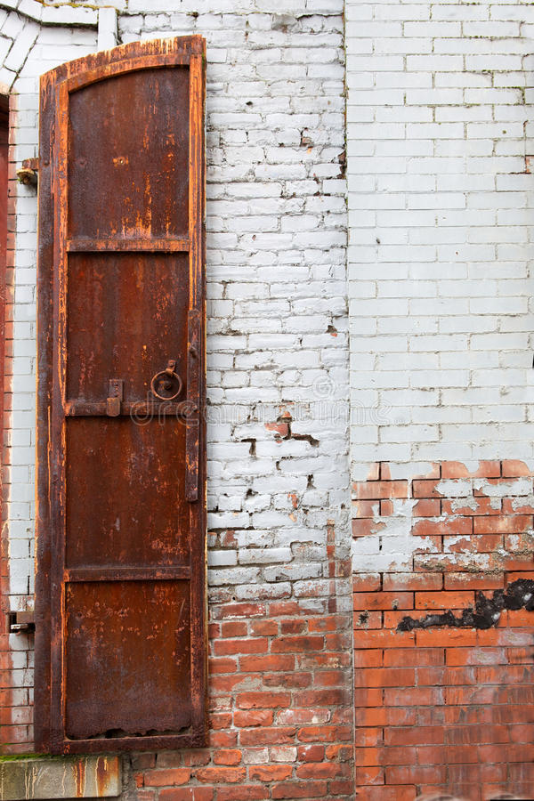 Half A Rusted Shutter Royalty Free Stock Image