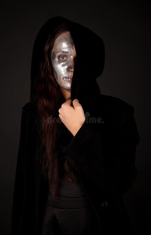 half s kvinna för framsida arkivfoton