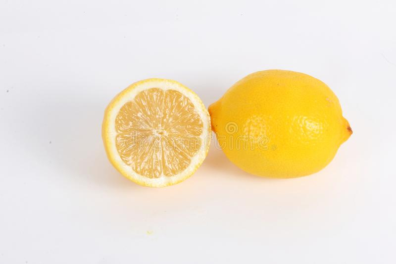 Half side of a citron. Lying in the studio stock image