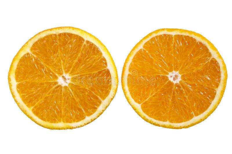 half skivad orange royaltyfri bild