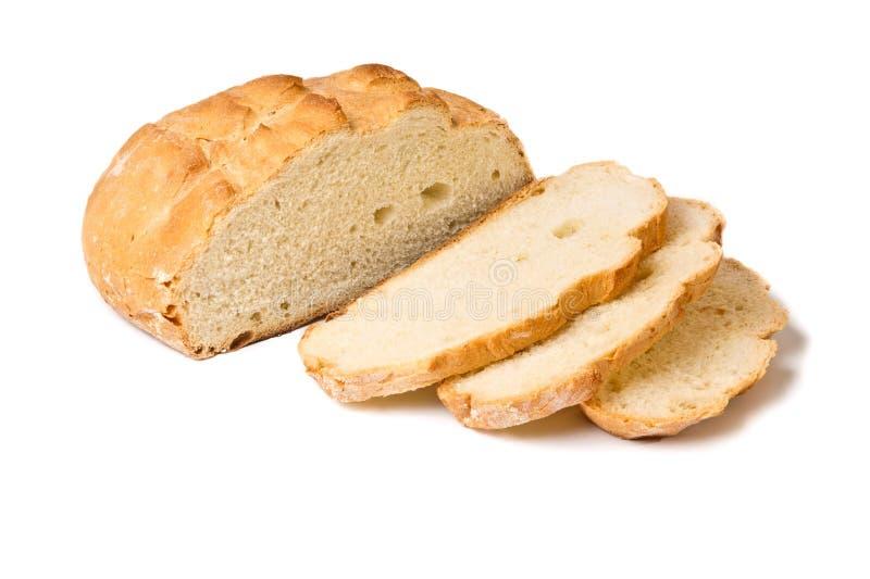 Download Half Sliced White Wheat Round Bread Stock Image - Image: 19287699