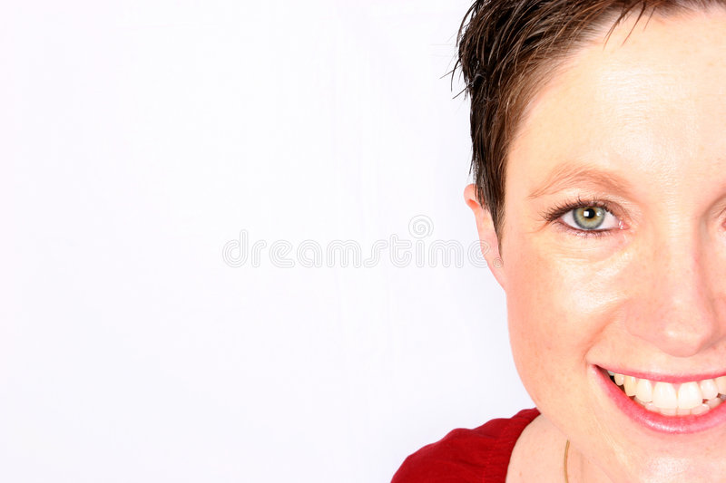 Half a smile stock images