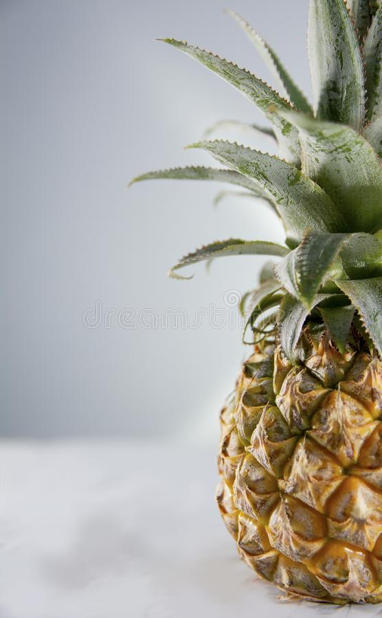 Half spiky pineapple. Half but powerful royalty free stock images