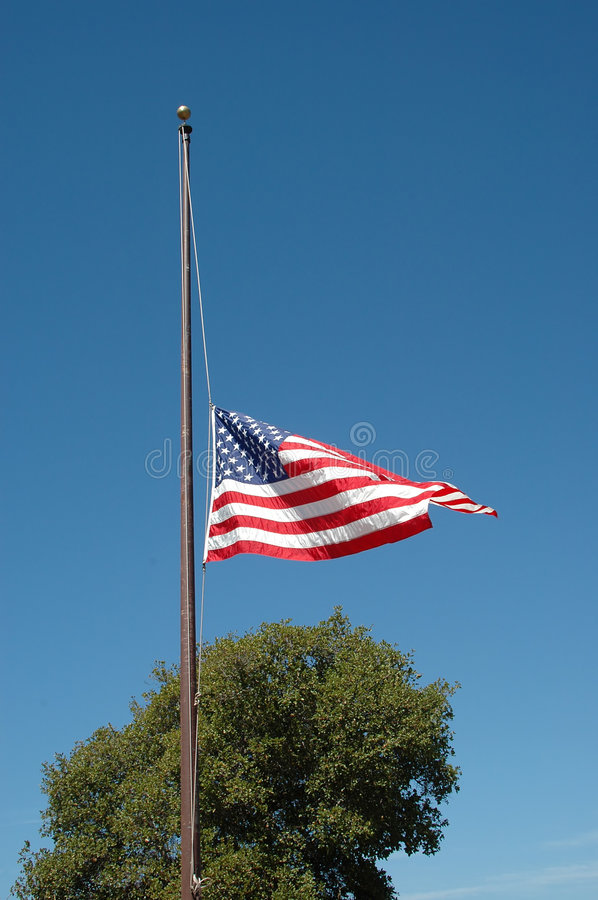 Half staff stock photography