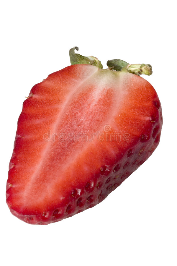 Half a strawberry stock images