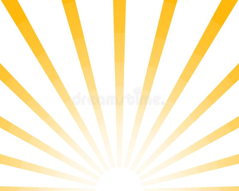 Half Sun Rays retro background, yellow colored sunburst stylish. Shine Summer pattern Eps10. Vector starburst illustration. Half Sun Rays retro background vector illustration