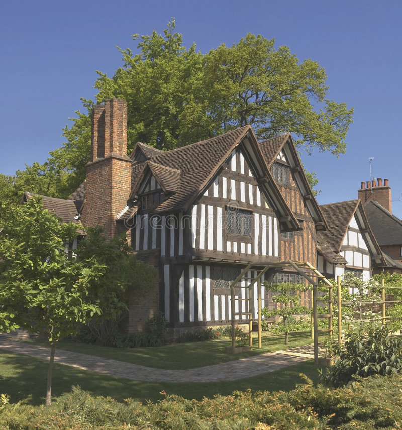 Half timbered buildings royalty free stock photography
