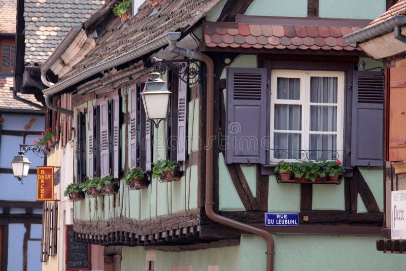Half-timbered Häuser lizenzfreies stockbild