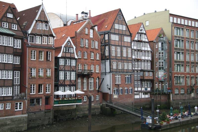 Half-timbered Häuser stockbilder