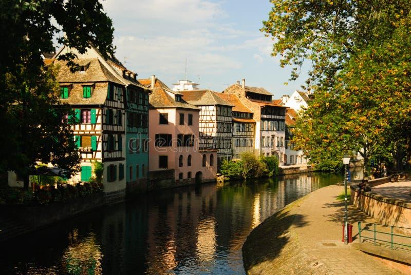 Half-timbered Häuser, Straßburg lizenzfreies stockbild
