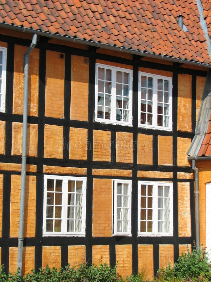 Half-timbered Haus in Faaborg stockfotos