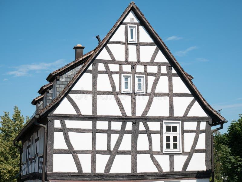 Half-timbered house of Bad Vilbel. Hesse, Germany stock image