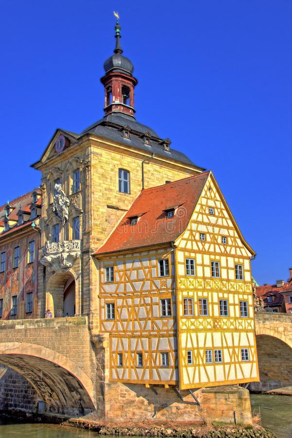 Half-timbered house, this construction has been keeping for centuries stock photos