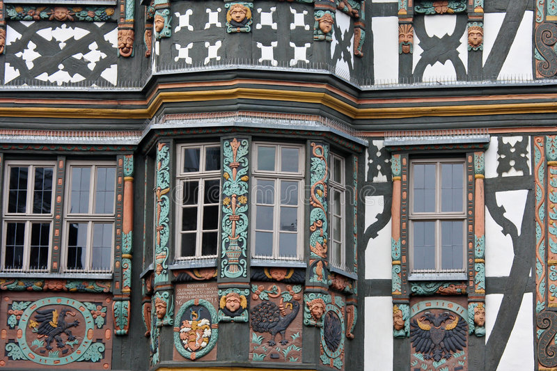 Download Half Timbered House In Germany Stock Image - Image of renovation, colors: 9053277