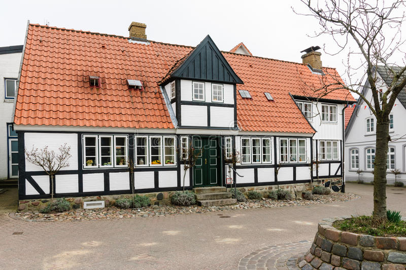 Download Half-timbered House In Kappeln, Schleswig-Holstein Stock Photo - Image of germany, downtown: 30409608