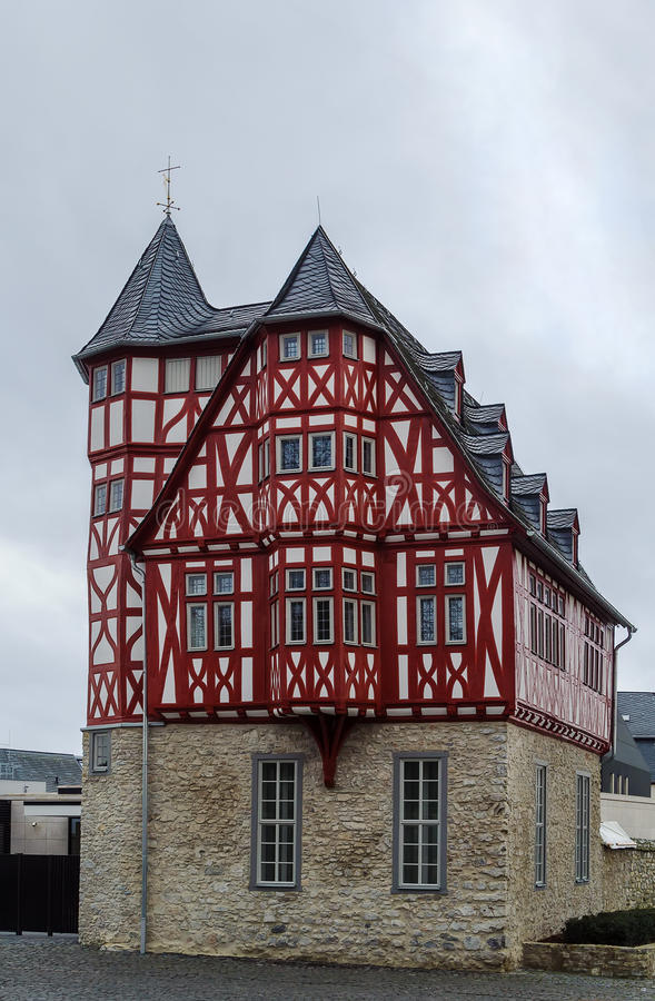 Half-timbered house in Limburg, Germany. Historical half-timbered house in Limburg, Germany royalty free stock image