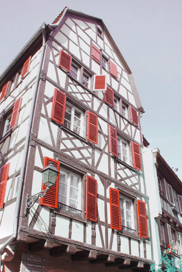 Half-timbered House. Typical house in Colmar, France royalty free stock photos