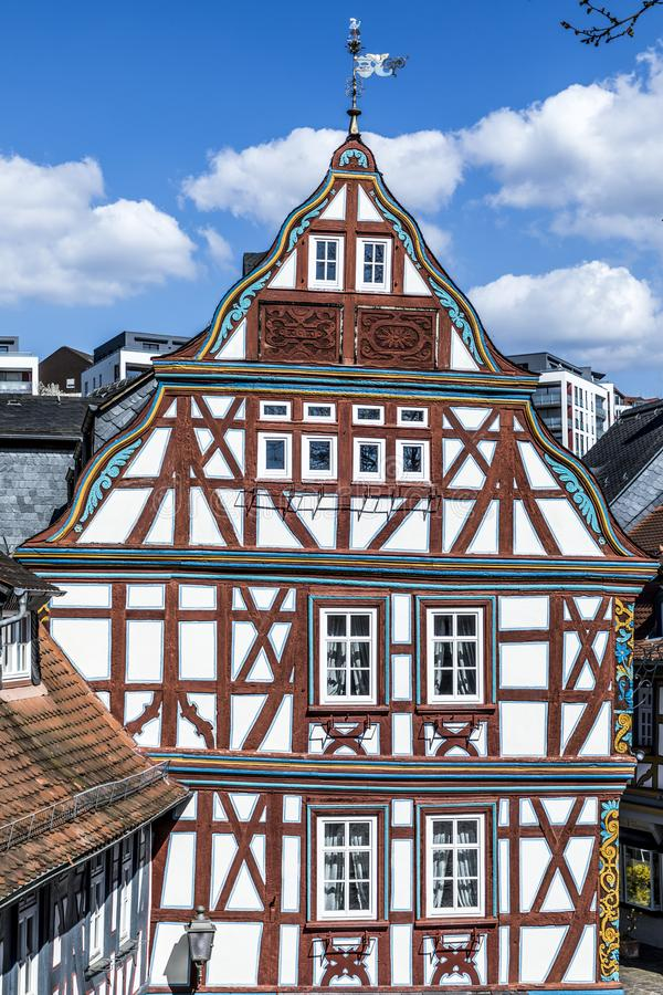 Half timbered houses in Idstein. Iscenic half timbered houses in Idstein, Germany royalty free stock photo