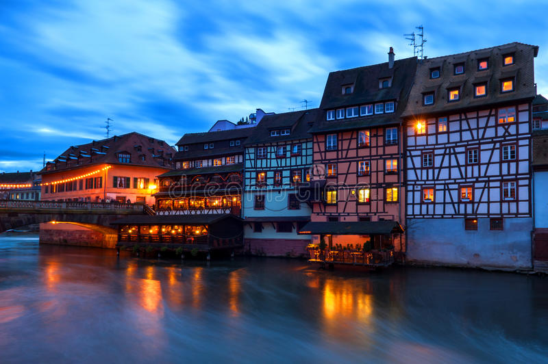 Half-timbered Houses at Petite France in Strasbourg, France royalty free stock images