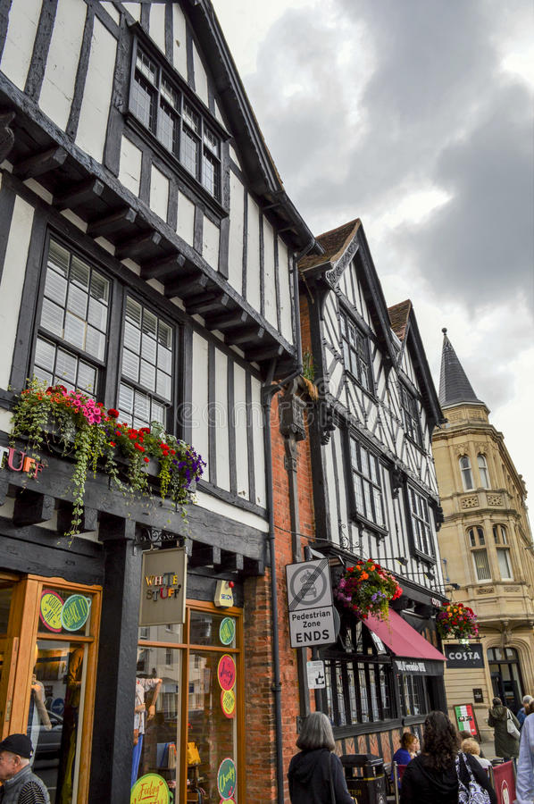 Half Timbered Houses in Stratford-upon-Avon, England stock image