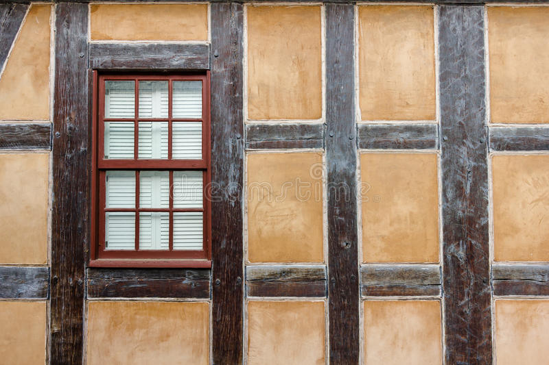 Half-Timbered Wall and Window royalty free stock photography