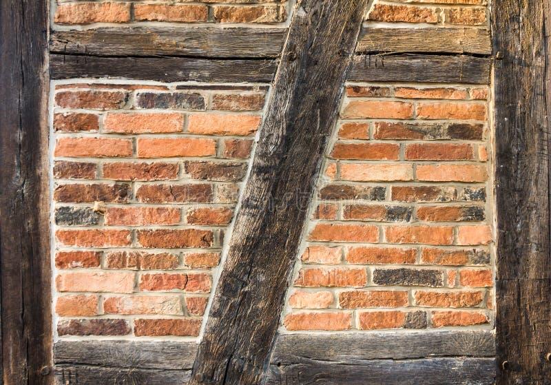 Half-Timbered Wand stockfoto