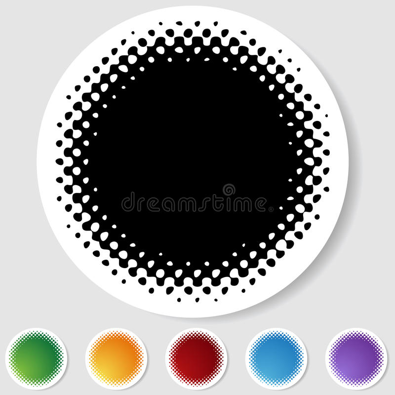 Download Half Tone Round Button Set - Blank Stock Vector - Illustration: 10228724