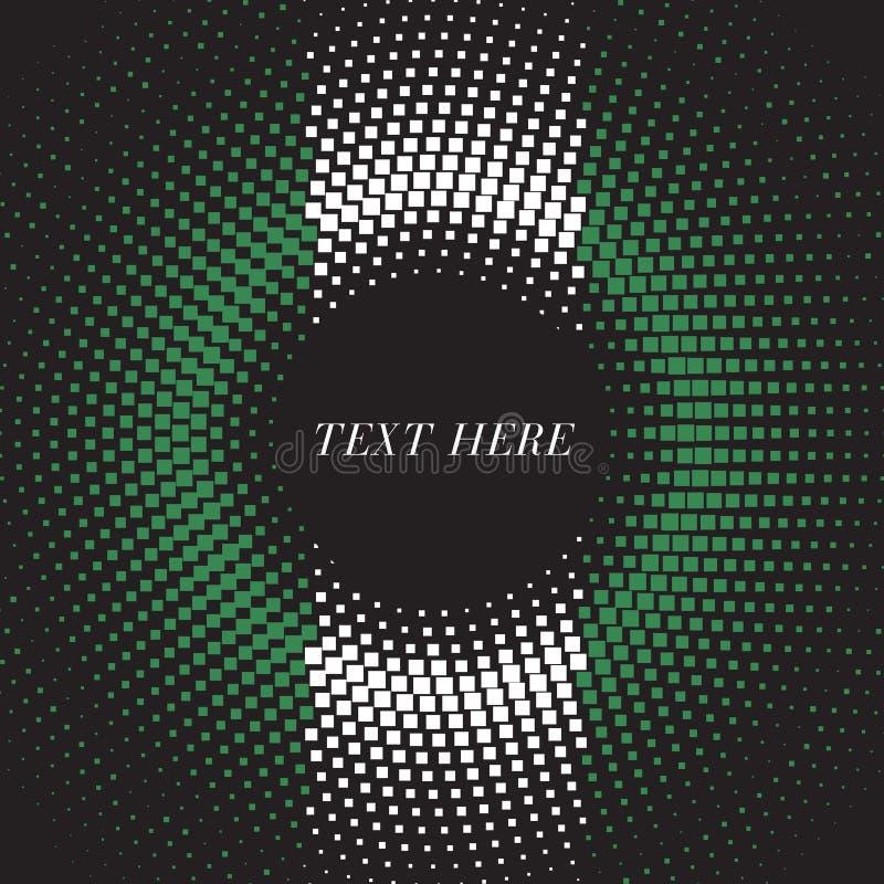 Half tone square round gradient template Nigeria flag vector illustration