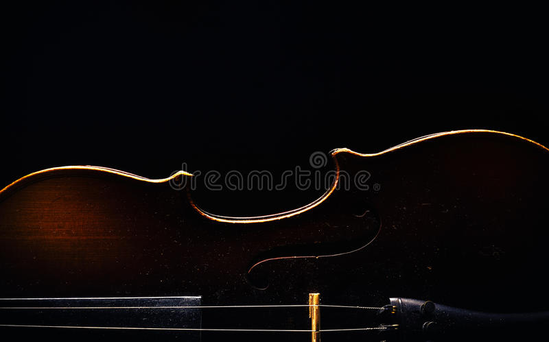 Half of a Violin royalty free stock photography