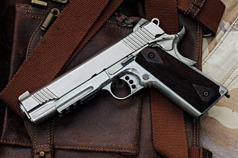 Halfautomatisch pistool, stock foto's